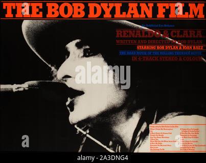 L'affiche de film de Bob Dylan Banque D'Images
