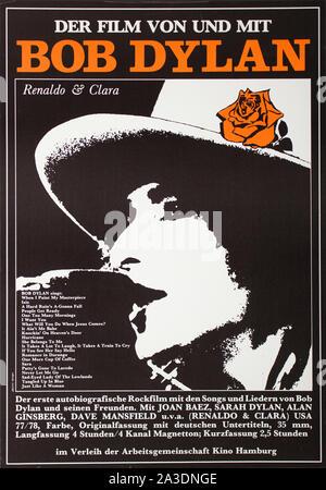 Le Bob Dylan affiche de film en allemand Banque D'Images
