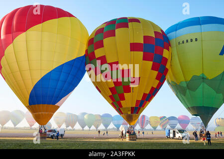 Messe du matin de l'ascension des montgolfières Banque D'Images