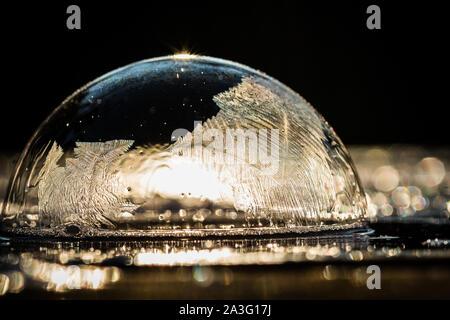 Frozen Bubble bulle de la soufflante avec motif de cristaux de glace