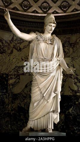 L'Athena Pallas de Velletri Velletri ou est un type de statue en marbre classique d'Athena, le port d'un casque. (Original attribué à Cresilas) premier siècle après Jésus-Christ, en marbre de Paros, mGreek H. 3,05 Grèce, romaine, Banque D'Images