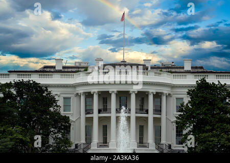 Arc-en-ciel sur White house washington dc usa