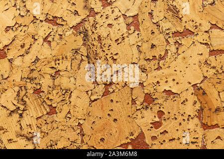 Close-up du liège Isolation acoustique avec retard interspersing de Peinture pour sols et murs Banque D'Images