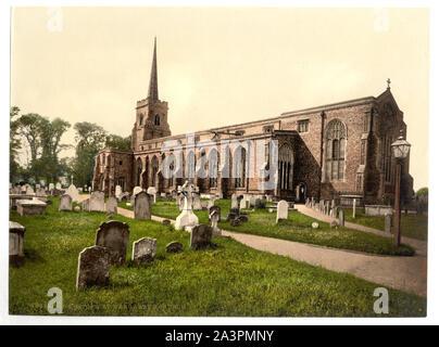 Saint Margaret's Church, Lowestoft, l'Angleterre fait partie de: vues sur les îles Britanniques, dans l'Photochrom collection imprimée.