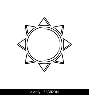 Illustration de l'été soleil vacances ligne de l'icône de conception d'image Banque D'Images