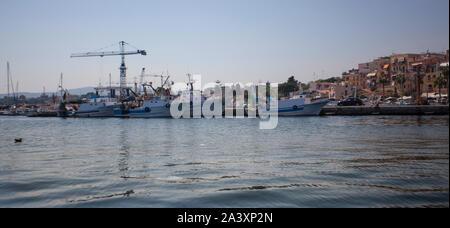 Bagnera en Sicile 6 Port Banque D'Images