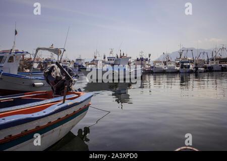 Port Bagnera en Sicile Banque D'Images