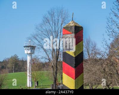 L'Allemagne de l'Est de la frontière de la RDA Banque D'Images