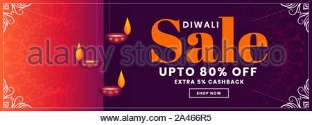 Happy diwali maison de vente banner design coloré Banque D'Images