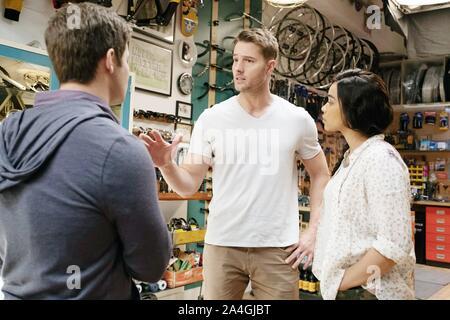 JEXI, de gauche: Adam Devine, Justin Hartley, Alexandra Shipp, 2019. ph: David Moir / © Lionsgate / courtesy Everett Collection