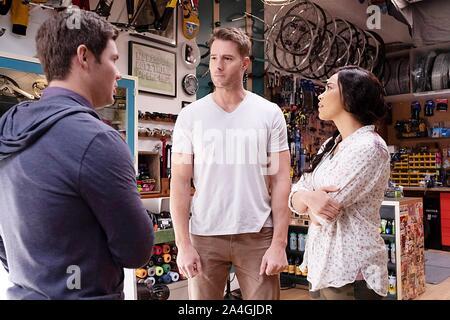 JEXI, de gauche: Adam Devine, Justin Hartley, Alexandra Shipp, 2019. ph: David Moir / © Lionsgate / courtesy Everett Collectio