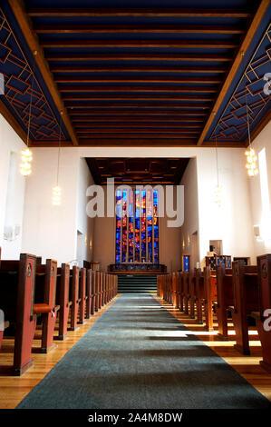 Sièges vides - église Grefsen Banque D'Images