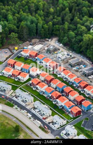 Vue aérienne de suburb Banque D'Images