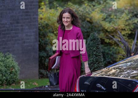 16 octobre 2019, les ministres du Cabinet arrivant au numéro 10 Downing Street, à Westminster, Londres. Banque D'Images