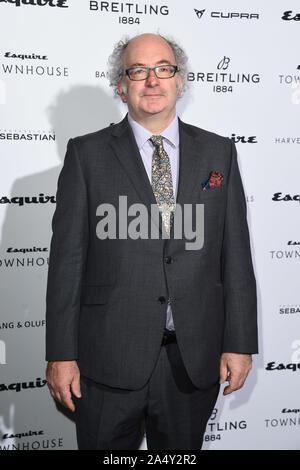 Londres, Royaume-Uni. 16 octobre 2019: John Lanchester arrivant pour la maison Esquire 2019 fête de lancement, Londres. Photo: Steve Sav/Featureflash Crédit: Paul Smith/Alamy Live News