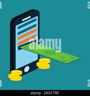 Mobile Banking symbole vector illustration Banque D'Images