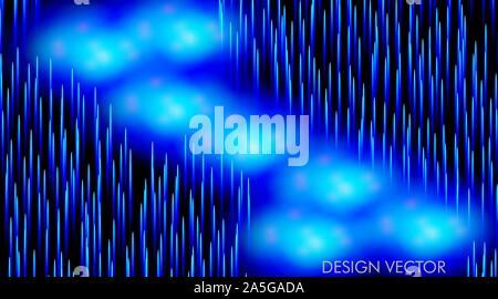 Abstract vector background en lignes de lumière bleue, la technologie vector background With glowing et bokeh Banque D'Images