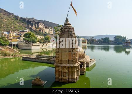 Nawal Sagar Lake dans Varkala. Le Rajasthan. L'Inde