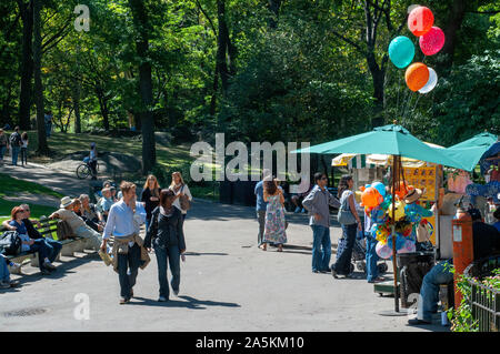 Le Mall, Central Park, New York City, NY, USA Banque D'Images