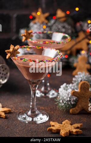 Biscuits au sucre martini avec rim sprinkles