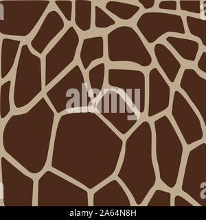 La texture de la peau, l'animal Giraffe animal fond, ornement tribal, Vector illustration Banque D'Images