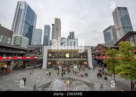 Chengdu, province du Sichuan, Chine - 14 Oct 2019: Apple store en construction Taikooli zone commerciale au centre-ville de Chengdu