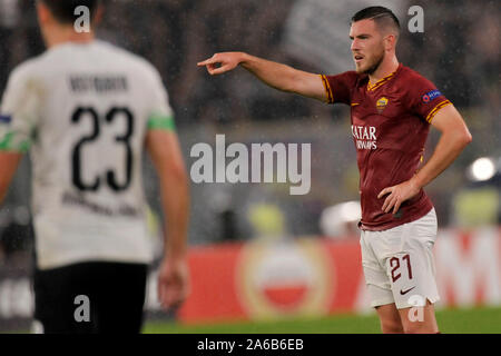 Roma - Borussia M'Gladbach 1-1, stadio Olimpico 24/10/2019 L'UEFA Europa League, Jordan Veretout Rome - Borussia M'Gladbach 1-1, le Stade Olympique 24/10/2 Banque D'Images