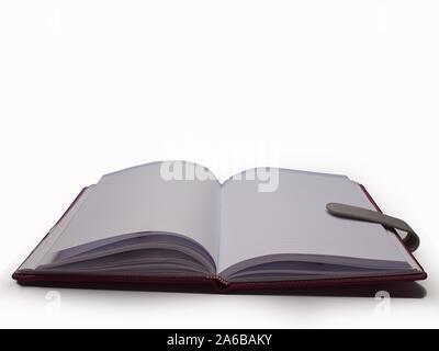 Journal d'entreprise , placé sur un fond blanc. Banque D'Images