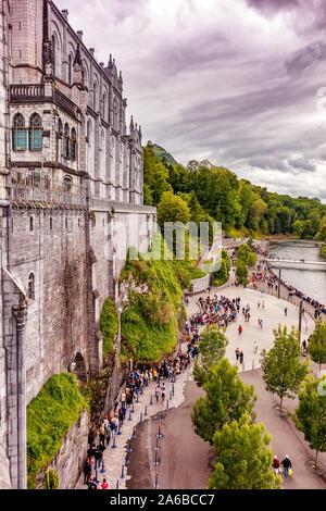 LOURDES - 15 juin 2019: lieu de pèlerinage Lourdes, dans le sud de la France