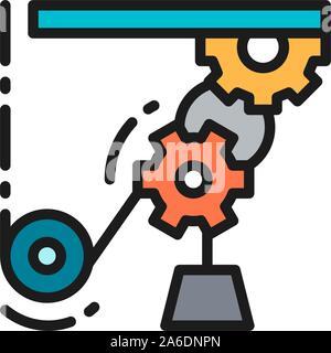 Mécanisme de levage, conduite de travail, l'icône de couleur télévision grues industrielles. Banque D'Images