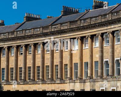 Royal Crescent, Bath, Royaume-Uni. Banque D'Images