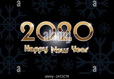 Bonne année 2020 avec les numéros d'étiquette de célébration Banque D'Images