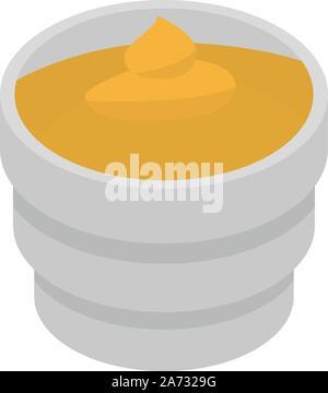 Moutarde alimentaire, l'icône de style isométrique Banque D'Images