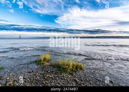 Le lac de Constance au début de l'automne Banque D'Images