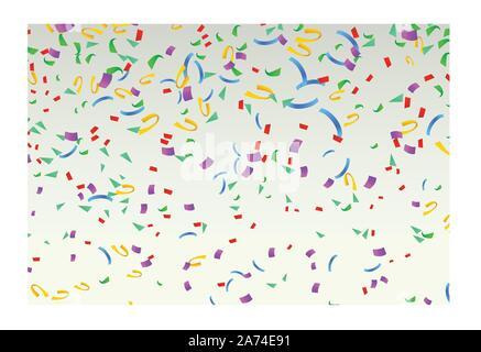 Couleur 03 confettis heureux Banque D'Images