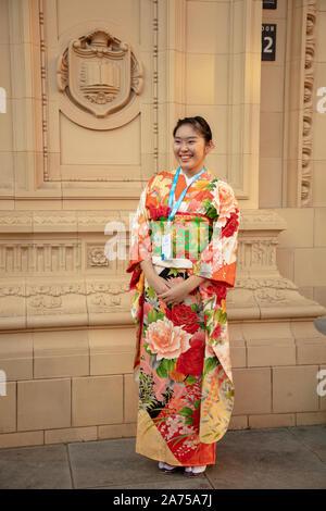 Londres, Royaume-Uni. 22 octobre 2019. Mayuri délégué du Japon posant au Royal Albert Hall avant la cérémonie d'ouverture des jeunes un sommet mondial 2019, Londres. Crédit: Joe Keurig / Alamy News Banque D'Images
