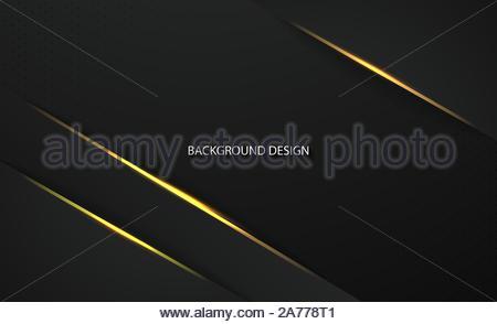 Résumé Cadre noir métallique.Conception de l'innovation technologique dans la conception d'arrière-plan concept EPS10 vector illustration. Banque D'Images