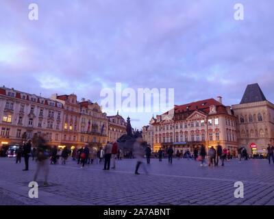 République tchèque, Prague - 10 octobre 2019 - centre-ville de Prague
