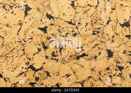 Close-up du liège Isolation acoustique avec retard interspersing de peinture noire pour sols et murs Banque D'Images