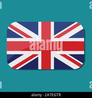 Carré avec pavillon britannique symbole vecteur illustration Banque D'Images