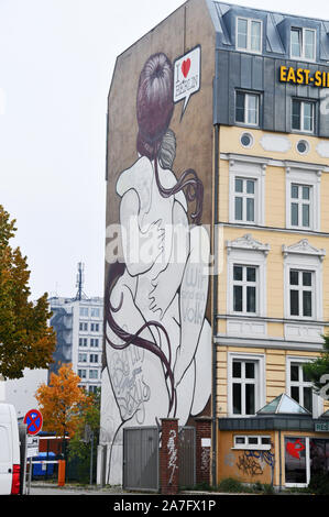 Autour de Berlin - East Side Gallery Banque D'Images