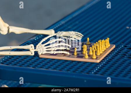 Son squelette se déplacer dans le jeu d'échecs