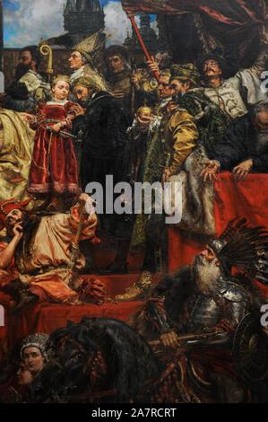 Jan Matejko (1838-1893). Peintre polonais. L'hommage prussien, 1882. Détail. Galerie d'Art Polonais du xixe siècle (Musée Sukiennice). Musée National de Cracovie. La Pologne. Banque D'Images