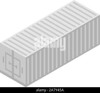 Remorque Cargo, l'icône de style isométrique Banque D'Images