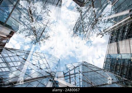 Ville d'architecture de Londres à deux faces Banque D'Images