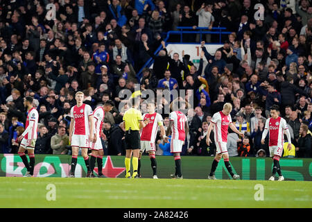 Londres, Royaume-Uni. 5 Nov 2019. Londres, 05-11-2019 Stamford Bridge, stade de football la saison 2019/2020 de la Ligue des Champions lors du match Chelsea FC - Ajax. Credit: Pro Shots/Alamy Live News Banque D'Images