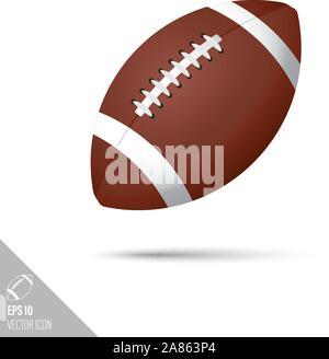 Style lisse ou ballon de rugby football américain icône. Appareils de sport vector illustration.