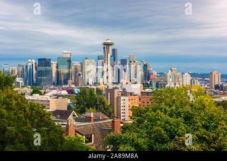 Toits de Seattle, Washington, USA vu de Kerry Park