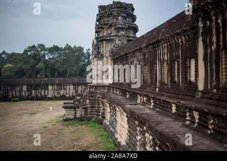 Temple d'Angkor Wat, Siem Reap, Cambodge. Banque D'Images