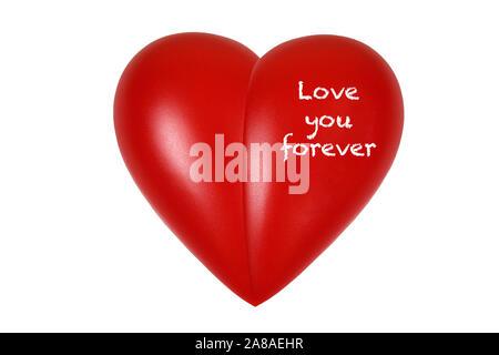 Rotes Herz, orgue, Gesundheit, Körperteil, vous aime pour toujours, Banque D'Images
